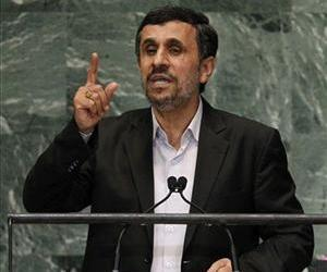 In this Sept. 26, 2012 file photo, Mahmoud Ahmadinejad, addresses the 67th session of the United Nations General Assembly.