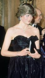 In this March 9, 1981 file photo, Lady Diana Spencer, then-fiancee of Britain's Prince Charles attends her first official engagement, a charity event at the Goldsmith's Hall, in London.