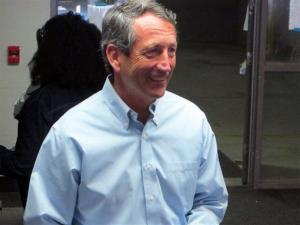 Mark Sanford leaves the voting booth after voting at his precinct in Charleston, SC, on Tuesday, April 2, 2013.