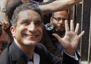 Popular Egyptian television satirist Bassem Youssef.
