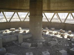 In this Feb. 14, 2008 file photo released by US researchers, the empty inner structure of a cooling tower at the Nyongbyon Nuclear Center in Nyongbyon, also known as Yongbyon, North Korea, is shown.