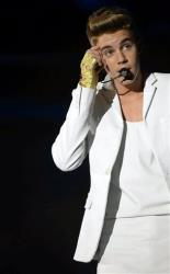 Canadian singer Justin Bieber performs on stage during a concert in Zurich, Switzerland  Friday, March 22, 2013.
