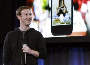 Facebook CEO Mark Zuckerberg speaks at the company's headquarters in Menlo Park, Calif., Thursday.