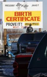File photo of a birther billboard sign.