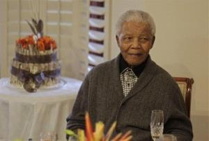 Former South African President Nelson Mandela celebrates his 94th birthday with family in Qunu, South Africa, last year.