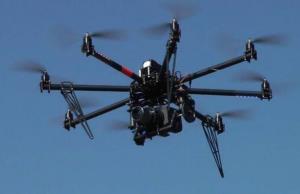 An Aerobot Cinestar Octocopter.