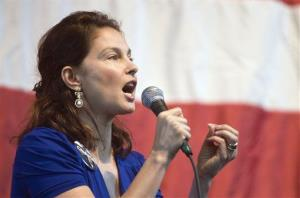 In this Nov. 1, 2008  file photo, actress Ashley Judd speaks at a Democratic get-out-the-vote rally in Louisville, Ky.