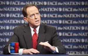 Sen. Pat Toomey's A rating from the NRA may help convince other moderate Republicans to support expanded background checks on firearm sales.
