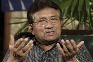 Former Pakistani President Pervez Musharraf speaks during a press conference in Karachi, Pakistan, Sunday, March 31, 2013.