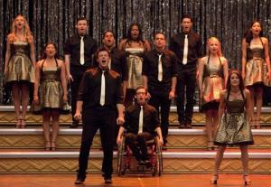 In this 2010 publicity image released by Fox, the cast of Glee performs Don't Stop Believing in the season finale episode of the series which aired on June 8, 2010.
