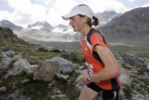 Great Britain's Elizabeth Lizzy Hawker during the Swiss Alpine Marathon.