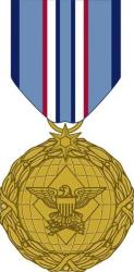 This image released by the Defense Department shows the obverse view with ribbon of the Distinguished Warfare Medal.