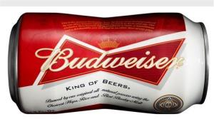 Budweiser's new bow tie-shaped aluminum can.