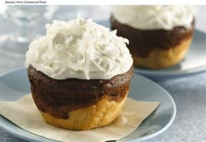 These are called chocolate-coconut jumbo pie cupcakes.