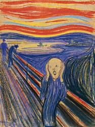 """The Scream,"" by Norwegian painter Edvard Munch."