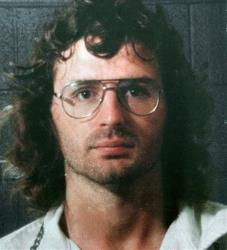 This file photo shows Branch Davidian leader David Koresh in a police line-up following a gun battle with former Davidians.