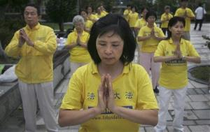 Spiritual group Falun Gong is banned from practicing in China.