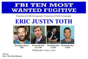This image made from the FBI Ten Most Wanted section of the website on April 11, 2012, shows Eric Toth, a former private-school teacher who is accused of possessing and producing child pornography.