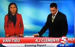 AJ Clemente in his first—and last—broadcast for KFYR-TV.