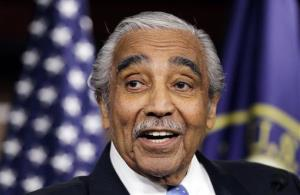 FILE - In this Dec. 2, 2010 file photo, Rep. Charles Rangel, D-N.Y., speaks to the media after he was censured by the House, on Capitol Hill in Washington. Congressman Rangel said Tuesday, March 20, 2012, he'll run for a 22nd term despite his conviction in 2010 on House...