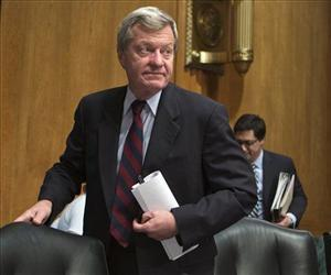 Sen. Max Baucus, D-Mont. is seen on Capitol Hill in this April 17 file photo.
