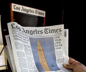 The front page of the Los Angeles Times is seen in this file photo.