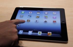 An Apple iPad on display in San Francisco.