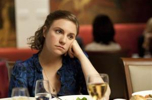 This undated image released by HBO shows Lena Dunham in a scene from the series Girls.