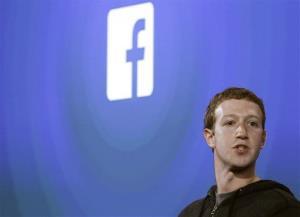 Facebook CEO Mark Zuckerberg speaks at the company's headquarters in Menlo Park, Calif., on April 4.