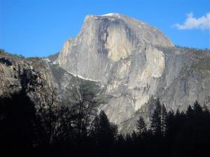 This April 2013 image shows Half Dome, the iconic granite peak in Yosemite National Park in California. Apparently, you put your weed in there.
