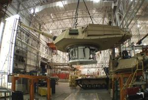 This undated file photo provided by the General Dynamics Land System shows the production of an Abrams tank in Lima, Ohio.