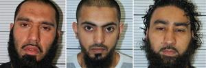 Mugshots for Anzal Hussain, Mohammed Hasseen, and Omar Khan, three of the six Islamic extremists who have admitted planning an attack on a far-right rally in northern England.