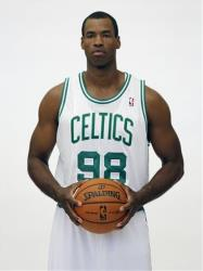 A file photo of Jason Collins in his Boston Celtics jersey.