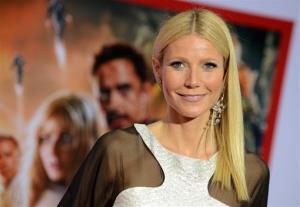 Actress Gwyneth Paltrow arrives at the world premiere of Marvel's Iron Man 3 at the El Capitan Theatre on Wednesday, April 24, 2013, in Los Angeles.