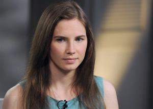 This April 9, 2013 photo released by ABC shows Amanda Knox during the taping of an interview with ABC News' Diane Sawyer in New York.