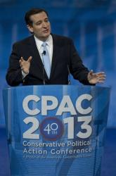 Sen. Ted Cruz, R-Texas, speaks at the CPAC convention in March.