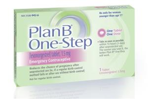 This undated image made available by Teva Women's Health shows the packaging for their Plan B One-Step (levonorgestrel) tablet.