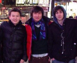 This undated photo shows, from left, Azamat Tazhayakov and Dias Kadyrbayev, from Kazakhstan, with Boston Marathon bombing suspect Dzhokhar Tsarnaev.