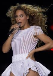 Beyonce performs on stage during her Mrs. Carter Show World Tour 2013, on Friday, April 26, 2013, at the LG Arena in Birmingham, UK.