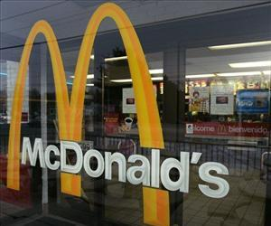 A McDonald's sign welcomes patrons into the restaurant in Wilmington, Del. in this file photo.