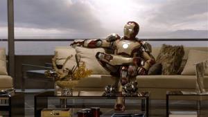 Robert Downey Jr. as Tony Stark/Iron Man in a scene from Marvel's Iron Man 3.