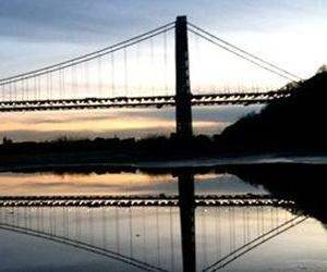 The George Washington Bridge is seen at sunset in this file photo.