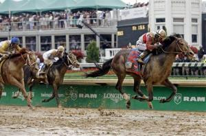 Joel Rosario rides Orb during the 139th Kentucky Derby at Churchill Downs Saturday.