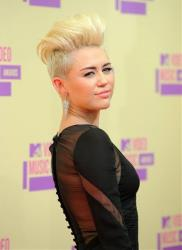 Singer-actress Miley Cyrus attends the MTV Video Music Awards in Los Angeles.