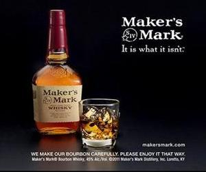 This file still frame image made from video provided by Maker's Mark Distillery Inc., shows a bottle of Maker's Mark in an advertisement.