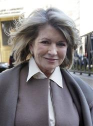 Martha Stewart arrives to court in New York, Tuesday, March 5, 2013.