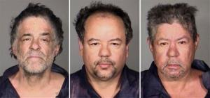 This undated combination photo released by the Cleveland Police Department shows from left, Onil Castro, Ariel Castro, and Pedro Casto.