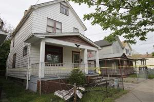 A house where three women escaped is shown Tuesday in Cleveland.