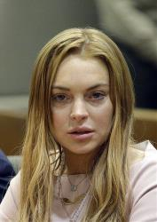 Actress Lindsay Lohan appears at a hearing in Los Angeles Superior Court on Monday, March 18, 2013.
