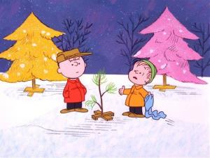 Charlie Brown and Linus appear in a scene from A Charlie Brown Christmas.